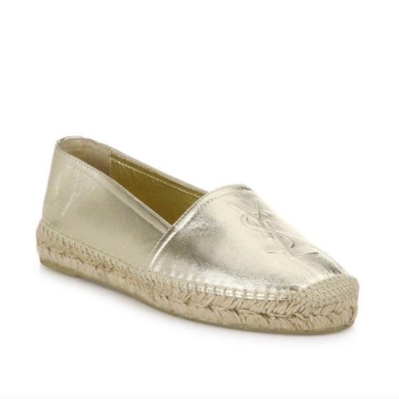 67ef1aaef74 Yves Saint Laurent Shoes | Ysl Flat Espadrilles | Poshmark